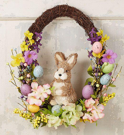 Easter Bunny Wreath 2020 |  Påskblommor, påsk.