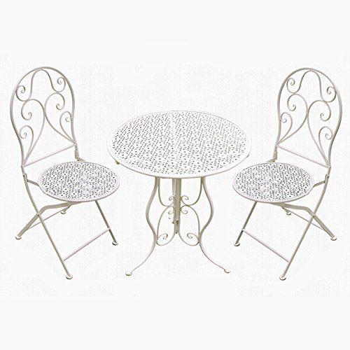 Perfekta möbler CSQ trädgård tak innergård bord och stol vikta.