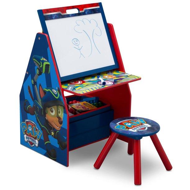 Nick Jr. PAW Patrol Deluxe Kids Art Table, Staffli, Skrivbord, Pall.