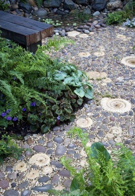 52 fantastiska stensträdgårdsvägar    Kiesgarten, Garten, Gartenw