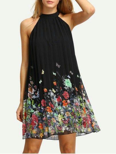 Skiftklänning för blommönster