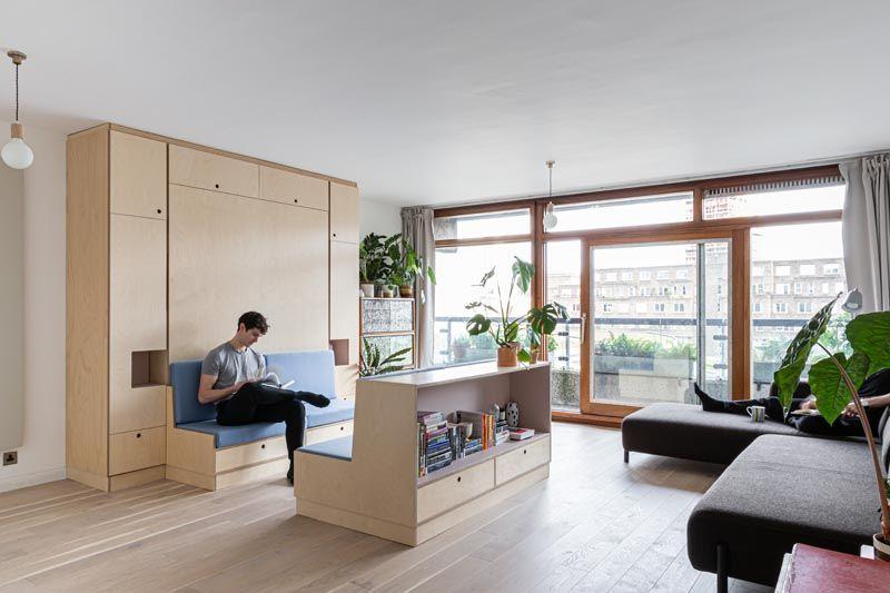 Multifunktionella möbellägenheter: liten lägenhet i Lond