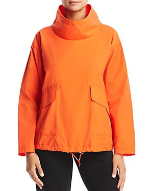 Orange Mock Neck tröja sportjacka med svarta skinny jeans