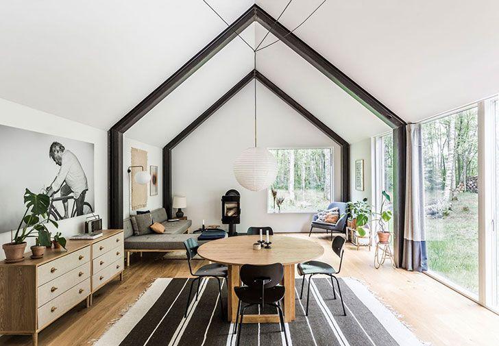 Современный летний домик посреди леса в Дании〛 ◾ Фото ◾Идеи.