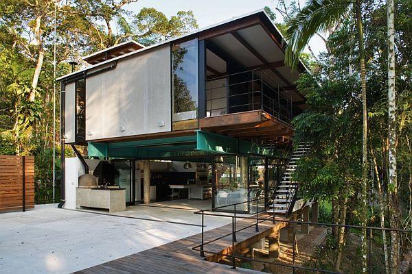 Modernt sommarhus i Iporanga, Braz