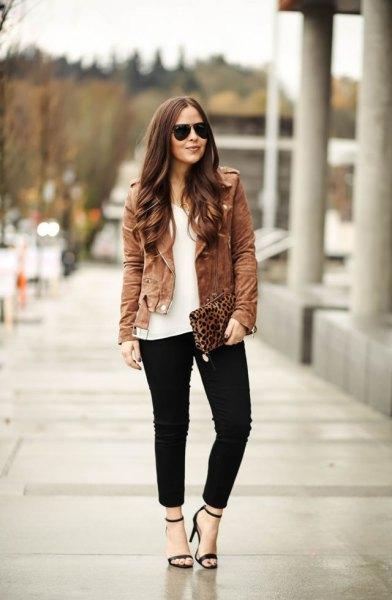 brun mocka jacka outfit