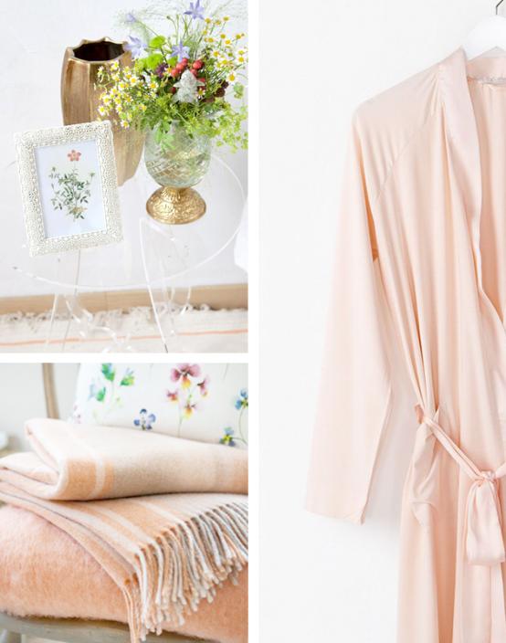 Härlig sommar sovrumsdesign i persika och vitt - DigsDi