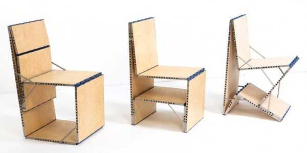 Multifunktionell Board Loop förvandlas till 9 unika möbelstycken