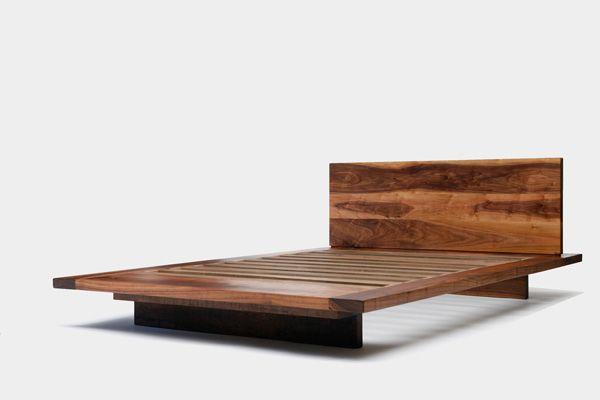 Romantiska sängar kommer du inte att tro  Plattform säng design, valnöt säng.