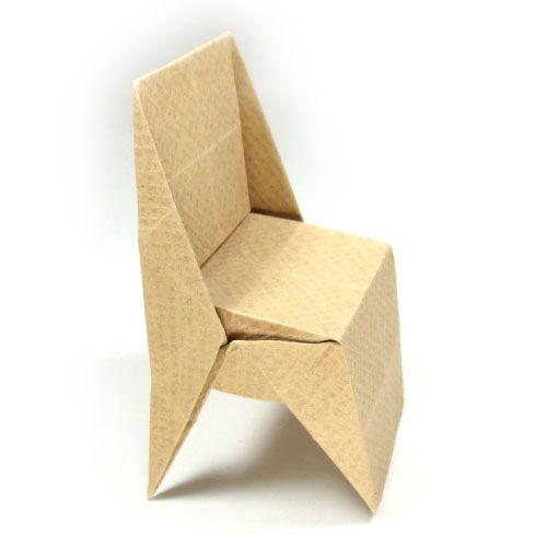 Hur man gör en origami stol med triangulära ben (http: // www.