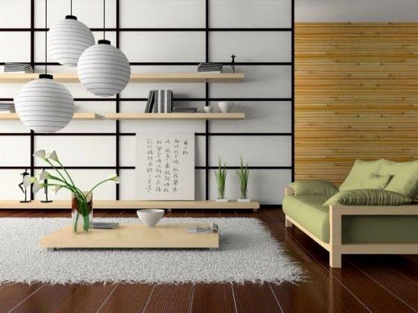 Inredning i japansk stil |  Japansk vardagsrumsdekor.