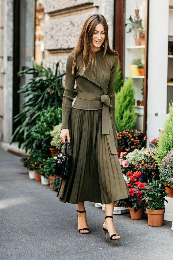 Chiffong kjol svartvitt