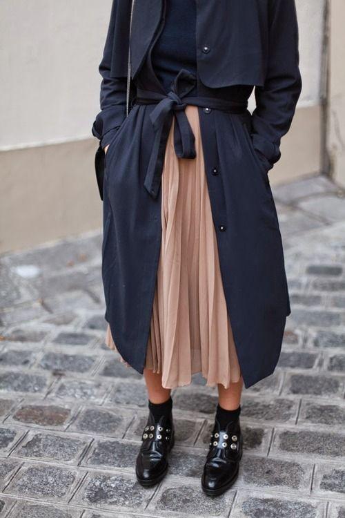 Chiffong kjol trenchcoat