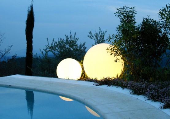 Charmig trädgård och poolbelysning med bild - DigsDi