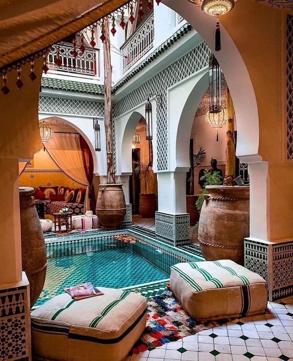 18+ Charmiga uteplatsdesignidéer i Marocko # MarockoPatio.