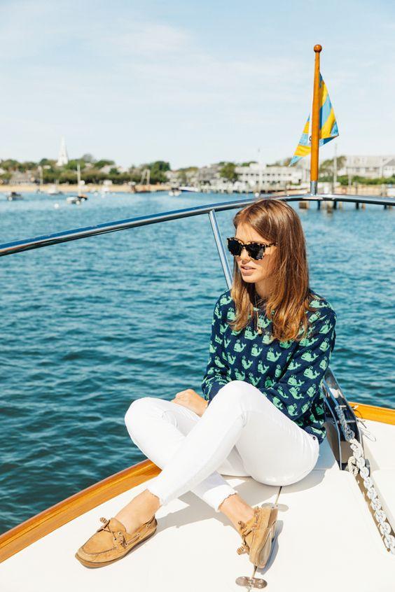 Tröja med båtskor