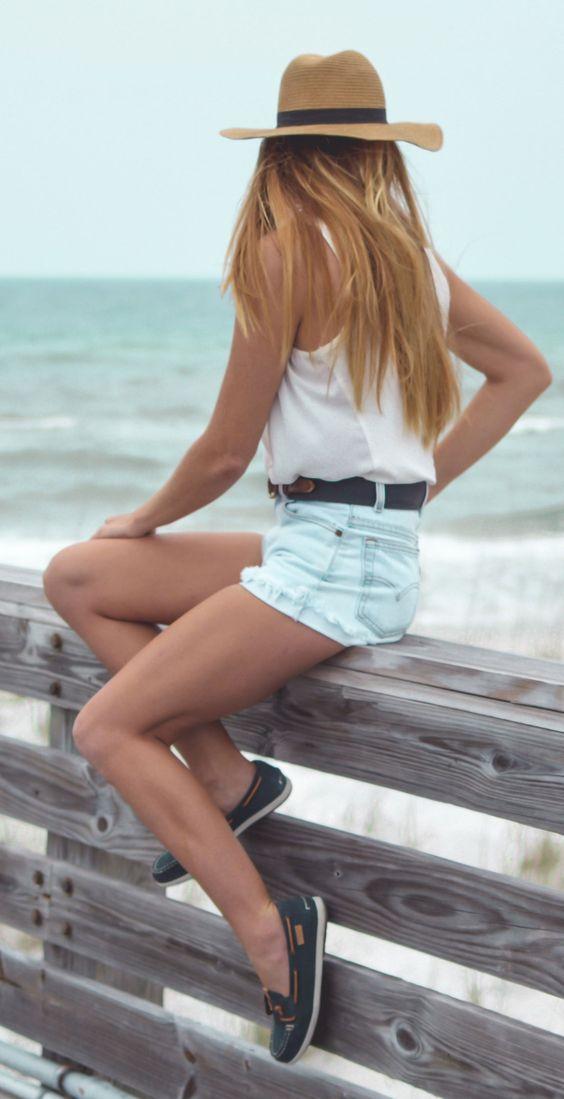 Båtskor jean shorts