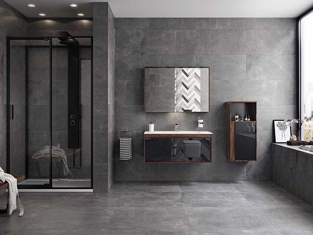 5 designidéer för grå badrock