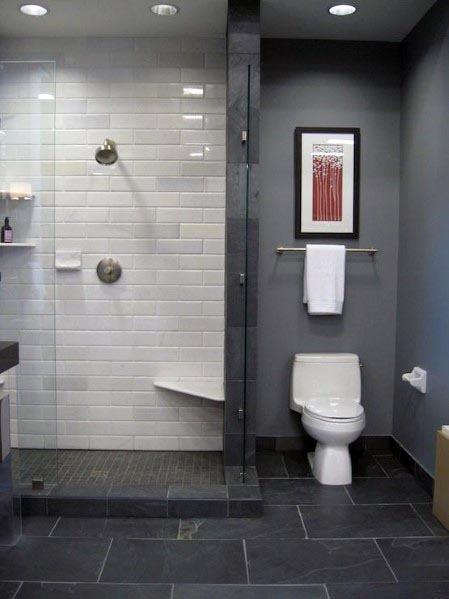 Topp 60 bästa grå badrumsidéer - Inredningsdesign Inspirati