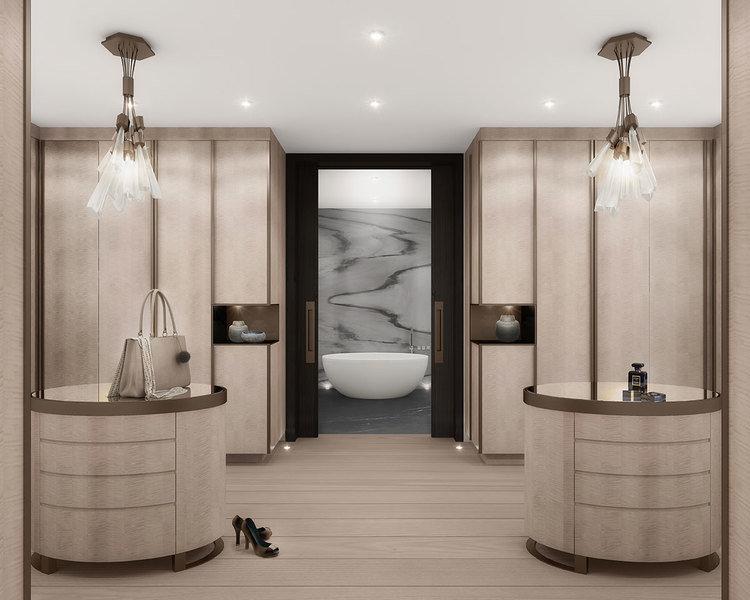 Designa ett omklädningsrum som du vill spendera tid på - herrgård.