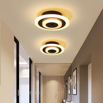 Akryl rund / fyrkantig taklampa Minimalistisk LED-infällning.