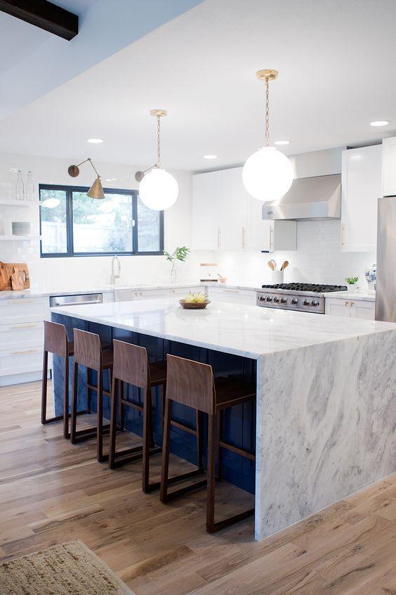 39 Trendiga och eleganta bänkskivor för vattenfall    Heminredning kök.