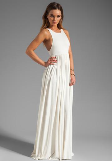 vit pansar klänning maxi