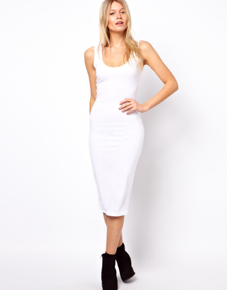 vit pansar klänning minimalt avslappnad