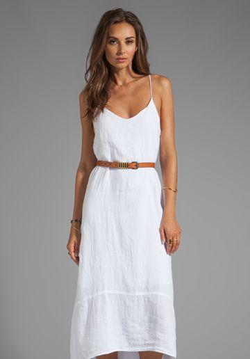 vit pansar klänning boho