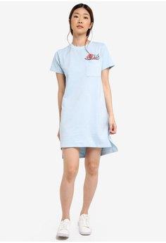 vit t-shirt klänning