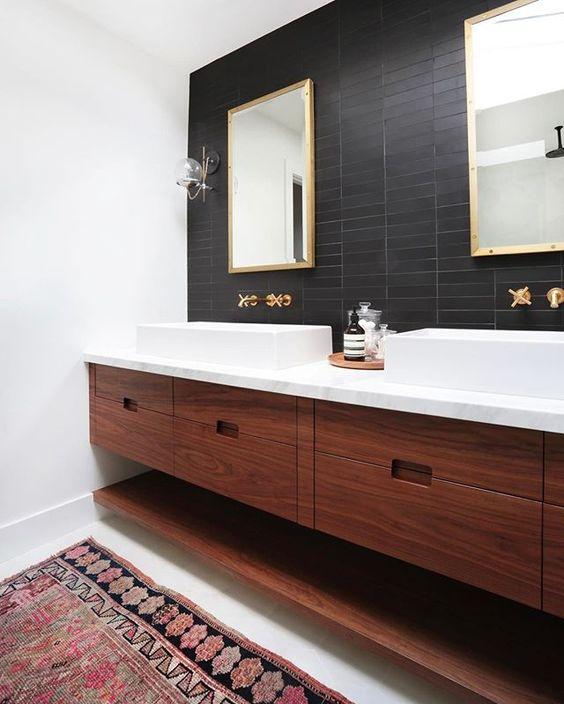 25 sätt att använda magra plattor i badrum - DigsDi