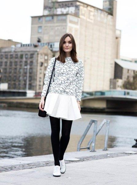 svart tröja vit plädad skjorta oxford skor