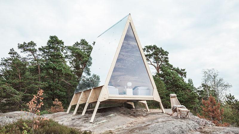 Stugan Nolla blir ett litet hem på en ö i Finla