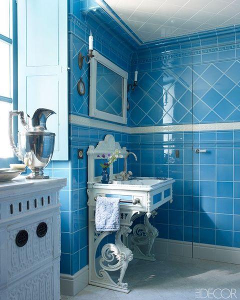 13 idéer om blå badrum - blå badrum dec