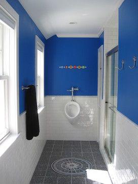 Koboltblå badrumsdesignidéer, bilder, ombyggnad och inredning.