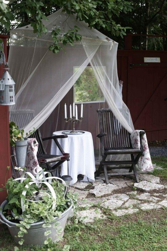 Söta och praktiska myggnätidéer för utomhusbruk  Baldakin.