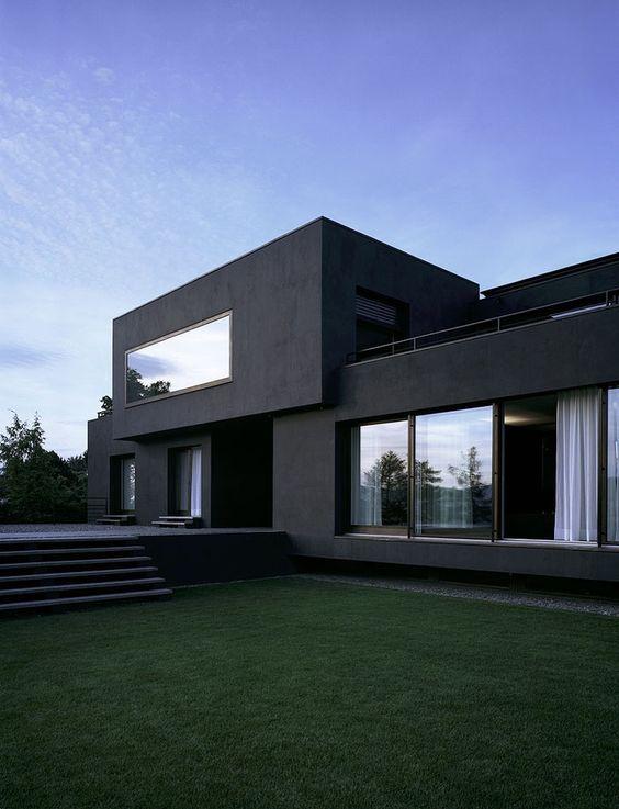 25+ Black House Exterior Design of Pure Darkness |  Modernt.