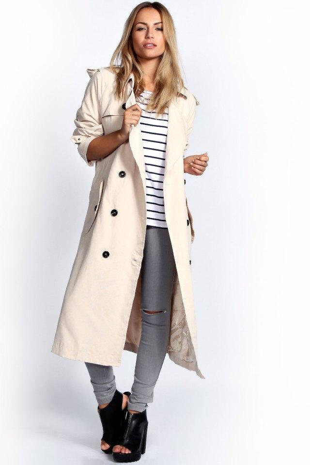 Longline trenchcoat kvinna outfit