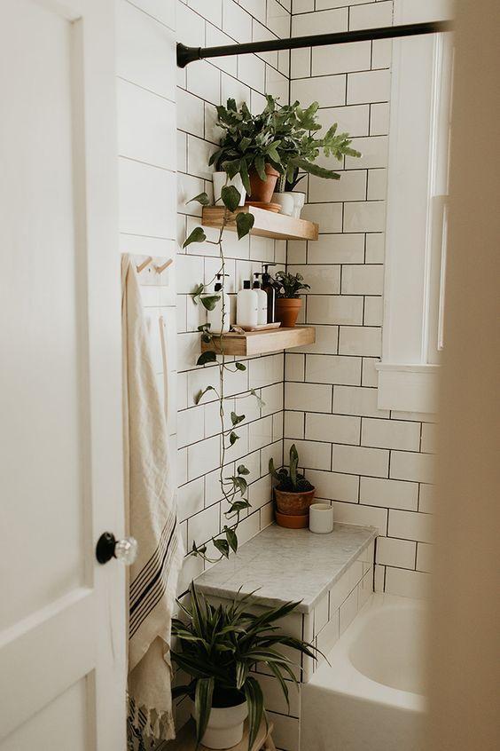 boho badrum design design idéer  Boho badrum, duschrenovering, dusch.