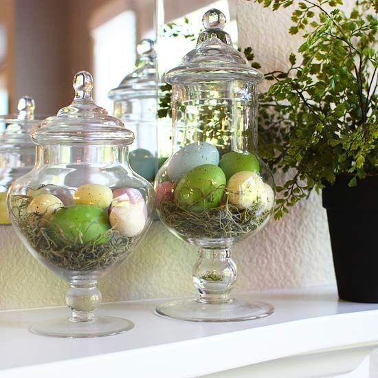 65 Eleganta påskmanteldekorationer |  Vår påsk dekor.