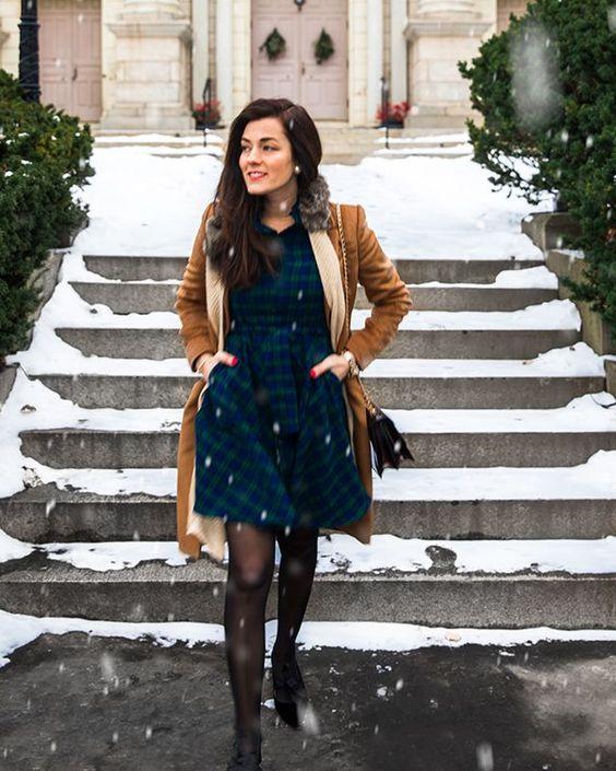 Flanellklänning vinter