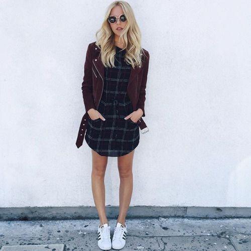 Flannel klänning urban flicka