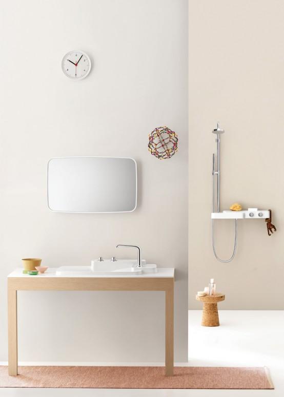 Husdesign: Snygg och flexibel samling av badrum.