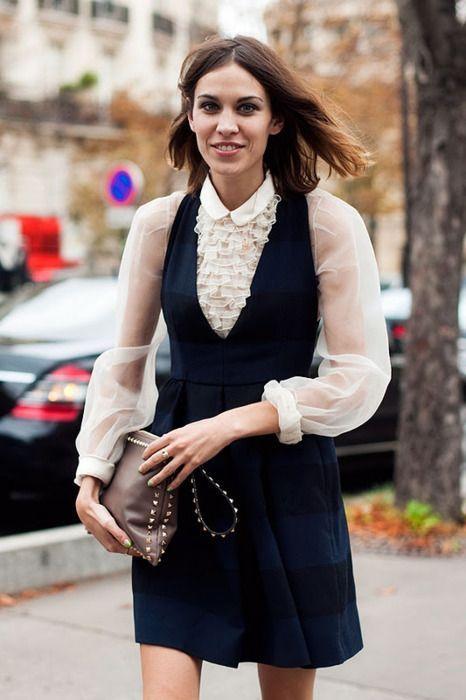 Randig pinafore-klänning