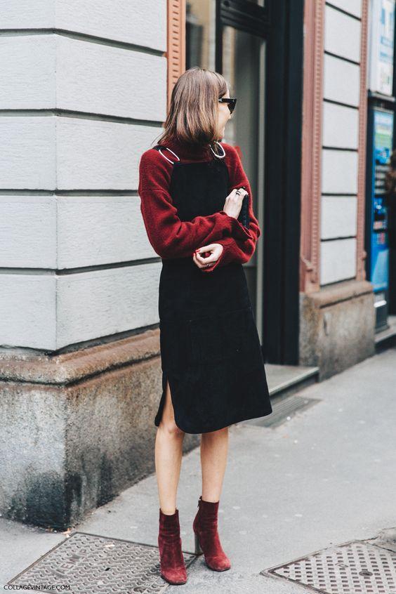 Klänning i svart sammet