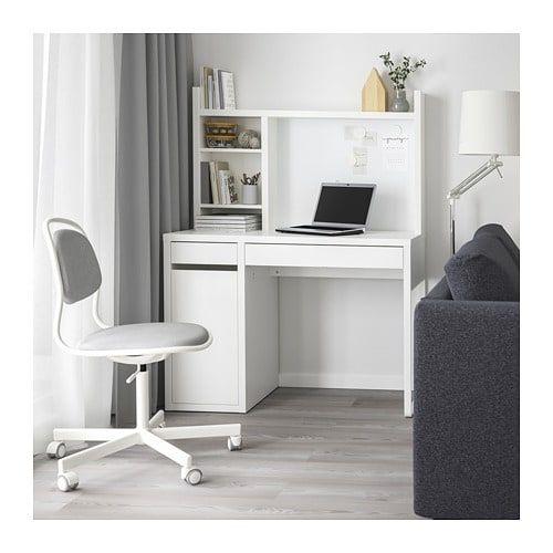 MICKE Skrivbord, vitt, 105x50 cm - Handla här - IKEA    Micke skrivbord, Ikea.