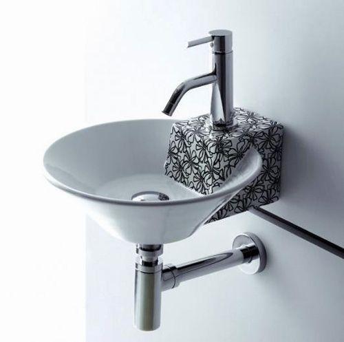 Snygga tvättställ i svartvitt av Bathco    Tvättställ.