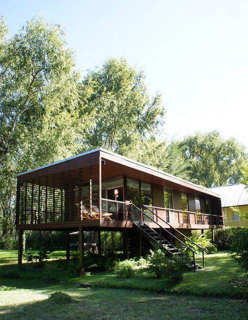 hus på styltor - använd mindre mark |  Hus på styltor, modernt.
