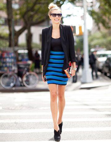 Bandage kjol blå ränder