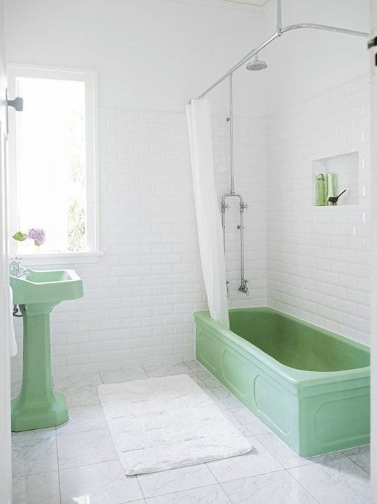 Retro badrumsuppdatering: Varför äldre badrumssviter fortfarande är söta.